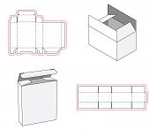 Simple Box Packaging Die Cut Out Template Design. 3d Mock-up. Template Of A Simple Box. Cut Out Of P poster