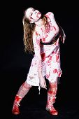 stock photo of gory  - gory bloody and scary zombie - JPG