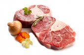 image of beef shank  - veal shank with ingredients - JPG