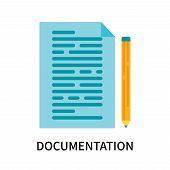 Documentation Icon Isolated On White Background. Documentation Icon Simple Sign. Documentation Icon  poster