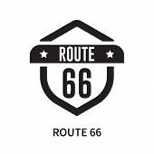 Route 66 Icon Isolated On White Background. Route 66 Icon Simple Sign. Route 66 Icon Trendy And Mode poster