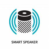 Smart Speaker Icon Isolated On White Background. Smart Speaker Icon Simple Sign. Smart Speaker Icon  poster