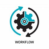 Workflow Icon Isolated On White Background. Workflow Icon Simple Sign. Workflow Icon Trendy And Mode poster