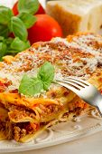 picture of lasagna  - lasagna on dish - JPG