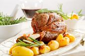 picture of lamb shanks  - shank with potatoes - JPG