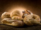 stock photo of bread rolls  - variety of bread - JPG