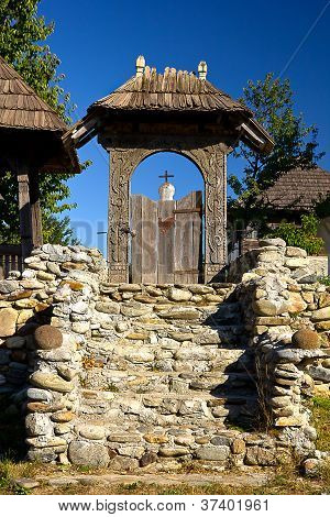 Ancient sculpted gate