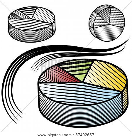 An image of a pie chart set.