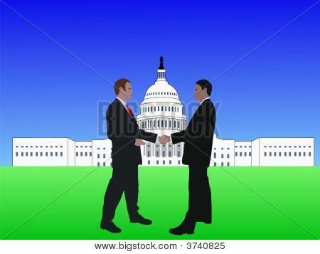 Men Meeting In Washington Dc