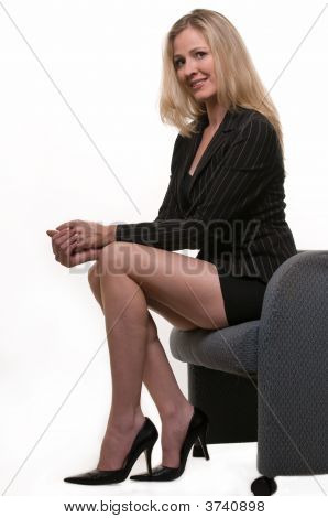 Long Legged Business Woman
