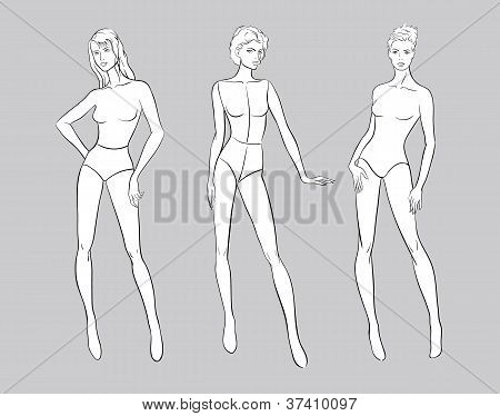 Female Fashion Figurines