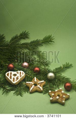 Chrismas Cookies And Balls