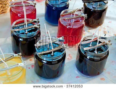 Banco de trabajo de fabricante de velas