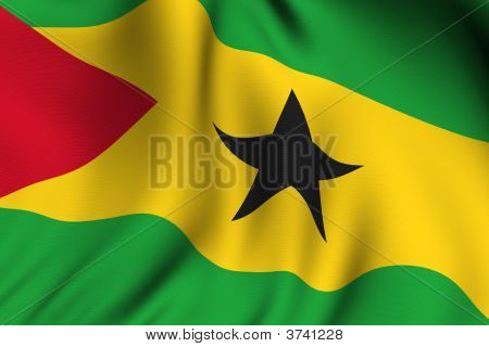 Rendered Sao Tome And Principe Flag