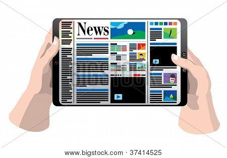 Tablet Computer In Hands