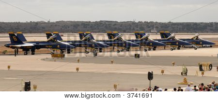 Blue Angels On The Flightline