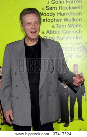 "LOS ANGELES - OCT 30:  Christopher Walken  at the ""Seven Psychopaths"" Premiere at Bruin Theater on October 30, 2012 in Westwood, CA"