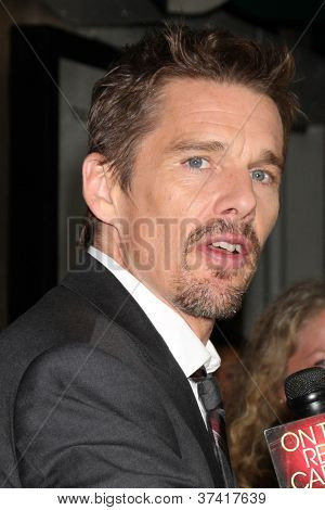 "LOS ANGELES - OCT 30:  Ethan Hawke arrives at the ""Sinister""  Los Angeles Screening at Landmark Theater on October 30, 2012 in Westwood, CA"