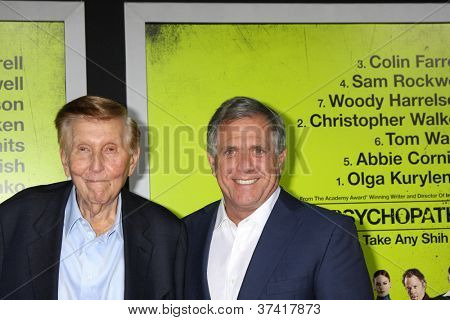 "LOS ANGELES - OCT 30:  Sumner Redstone, Les Moonves  at the ""Seven Psychopaths"" Premiere at Bruin Theater on October 30, 2012 in Westwood, CA"