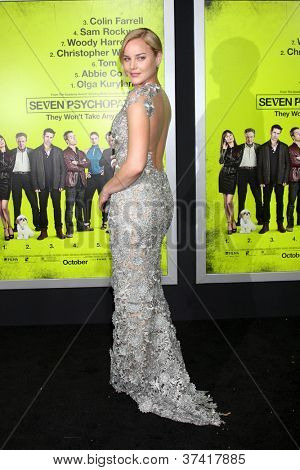 "LOS ANGELES - OCT 30:  Abbie Cornish  at the ""Seven Psychopaths"" Premiere at Bruin Theater on October 30, 2012 in Westwood, CA"