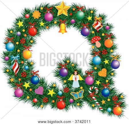 Alphabet Letter Q - Christmas Decoration