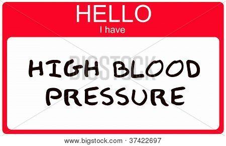 Hello I Have High Blood Pressure