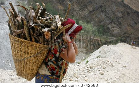 Lady Carrying Wood