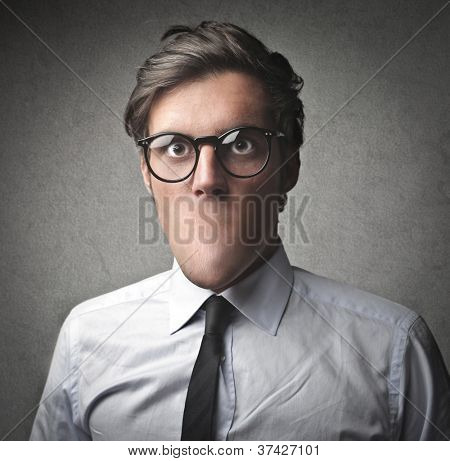 Businessman without the mouth