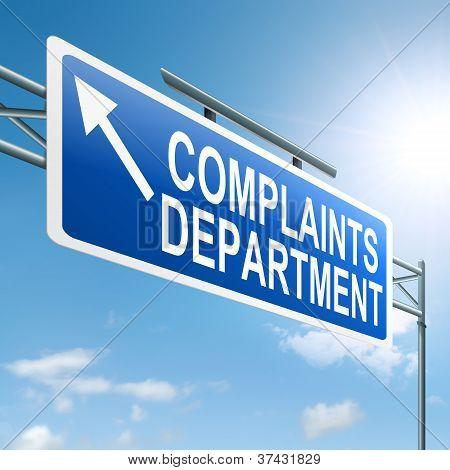 Complaints Department.