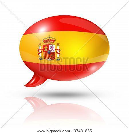 Spanish Flag Speech Bubble