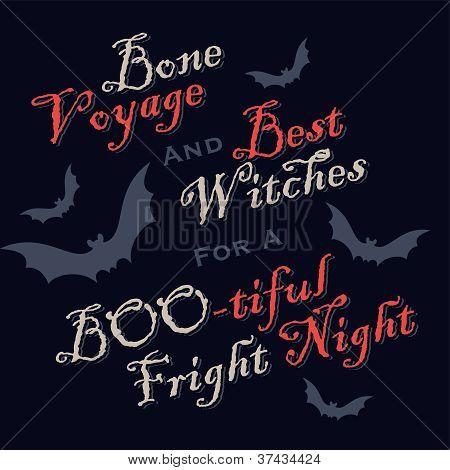 humorous halloween greetings (vector)