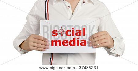 Placard Social Media