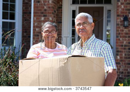 Senior Couple Moving