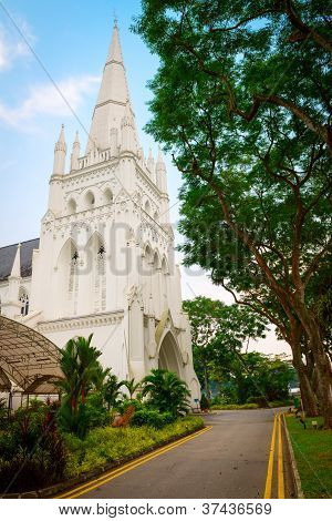 Andrew's Cathedral In Singapore.