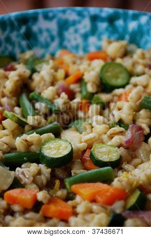 Barley Salad With Vegetables