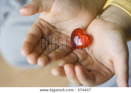 Little Heart In Children Hands