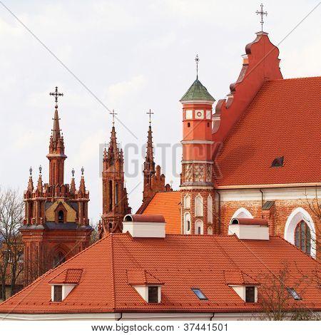 St. Anne's and Bernardinu Church in Vilnius, Lithuania