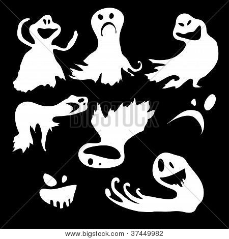 Scary.bvector wallpaper with flying ghosts