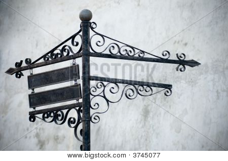 Sign Post Over Grunge Background