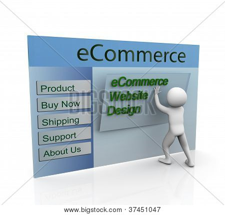 Concept Of Secure Ecommerce Web Design