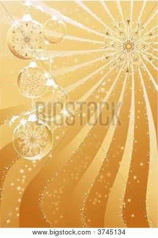 Gold Abstract Christmas