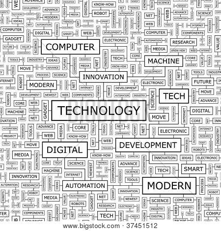 TECHNOLOGY. Seamless vector pattern.