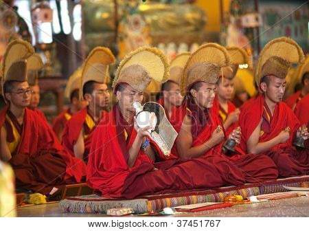 Buddhist monks and lamas, Nepal