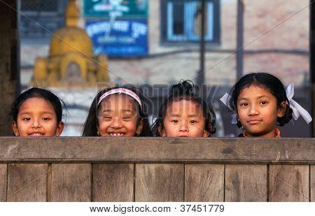 Nepalese schoolgirls