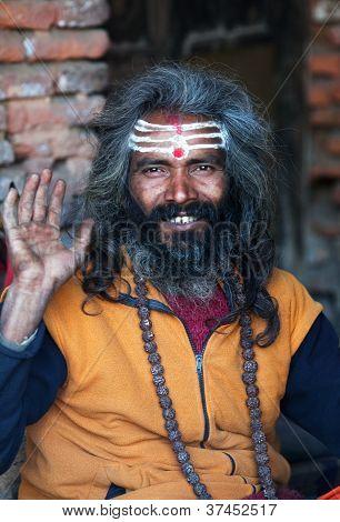 Sadhu (holy man) in Nepal