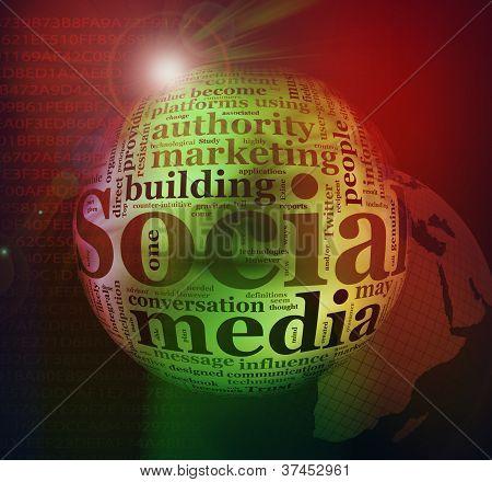 Social Media word tags