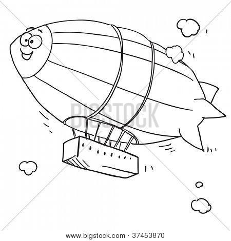Zeppelin engraçado dos desenhos animados