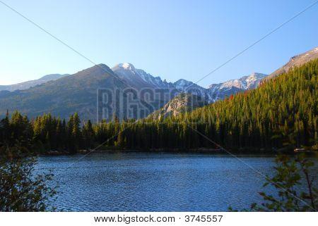 Sunrise At Bear Lake W Longs Peak