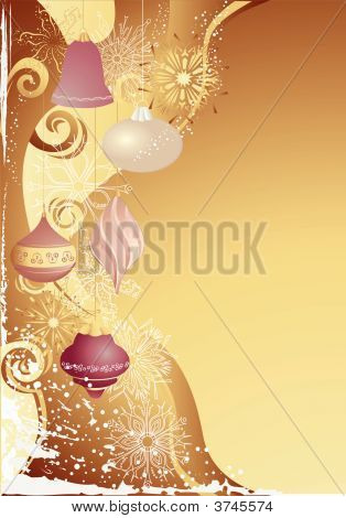 Gold Christmas With Baubles