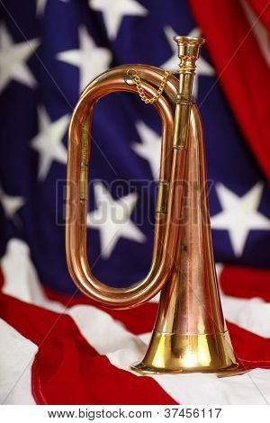 Bugle With Flag